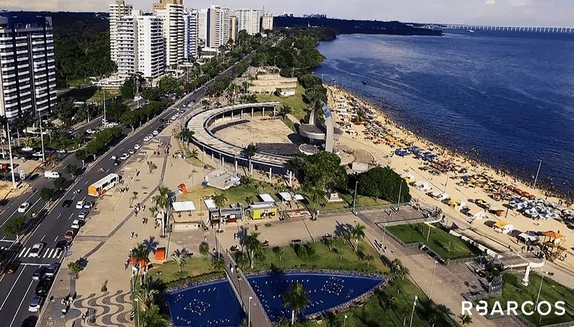 Praias da Orla de Manaus em Barco 65 Pés  - /